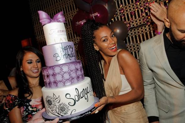 Solange Knowles with cake_LAVO