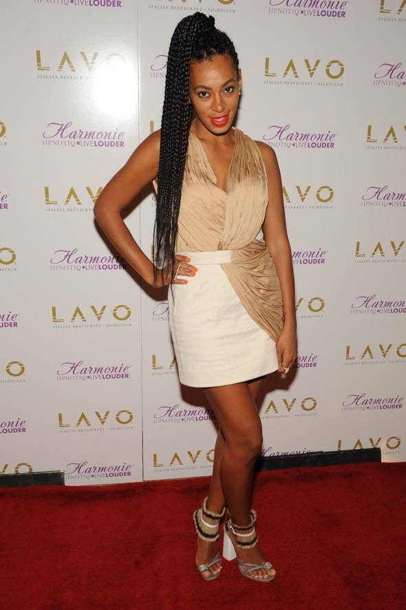 Solange Knowles_LAVO_red carpet