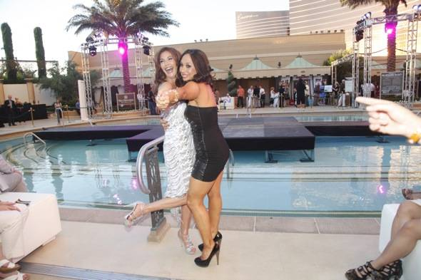 Teri Hatcher is Cheryl Burke's new dancing partner at the Simon G Soiree at The Palazzo