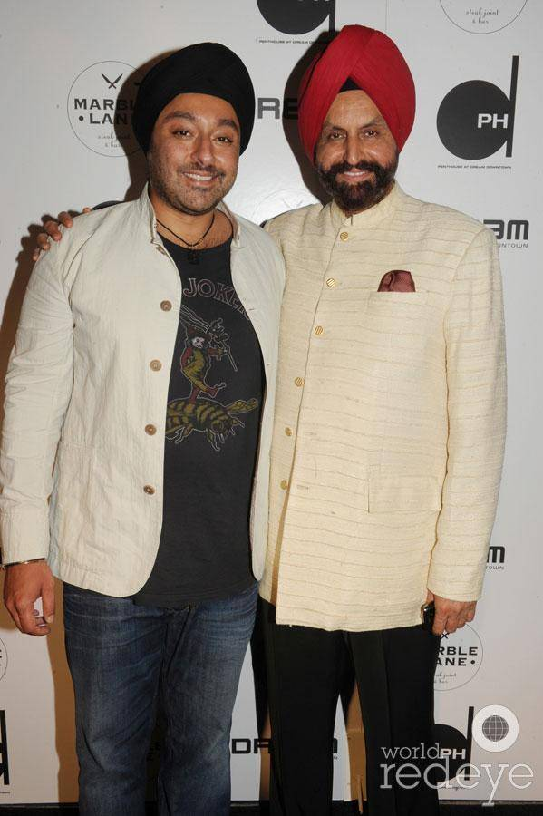 Vikram Chatwal and his father