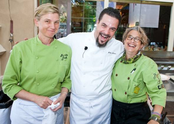 Chefs Mary Sue Milliken, Mike Minor and Susan Feniger