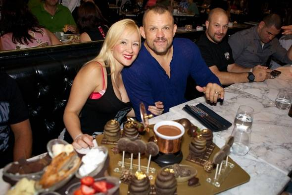 Chuck Liddell with wife, Heidi