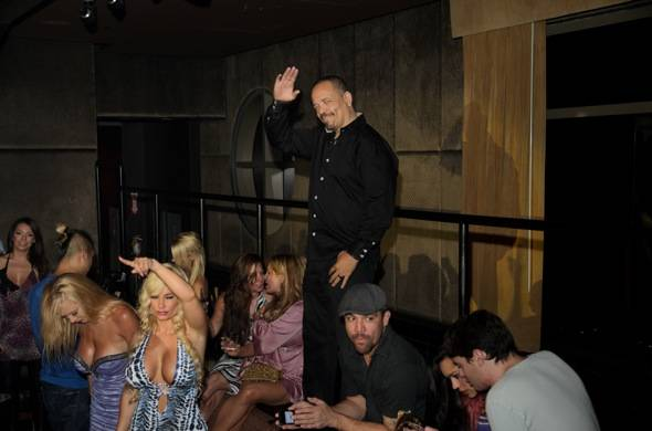 Coco and Ice T take in the sounds of MC Lyte at LAVO