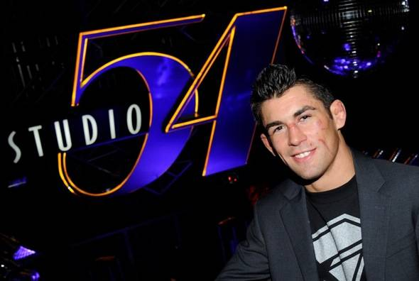 Dominick Cruz Celebrates Victory Over Urijah Faber at Studio 54, Las Vegas, 7.2.11