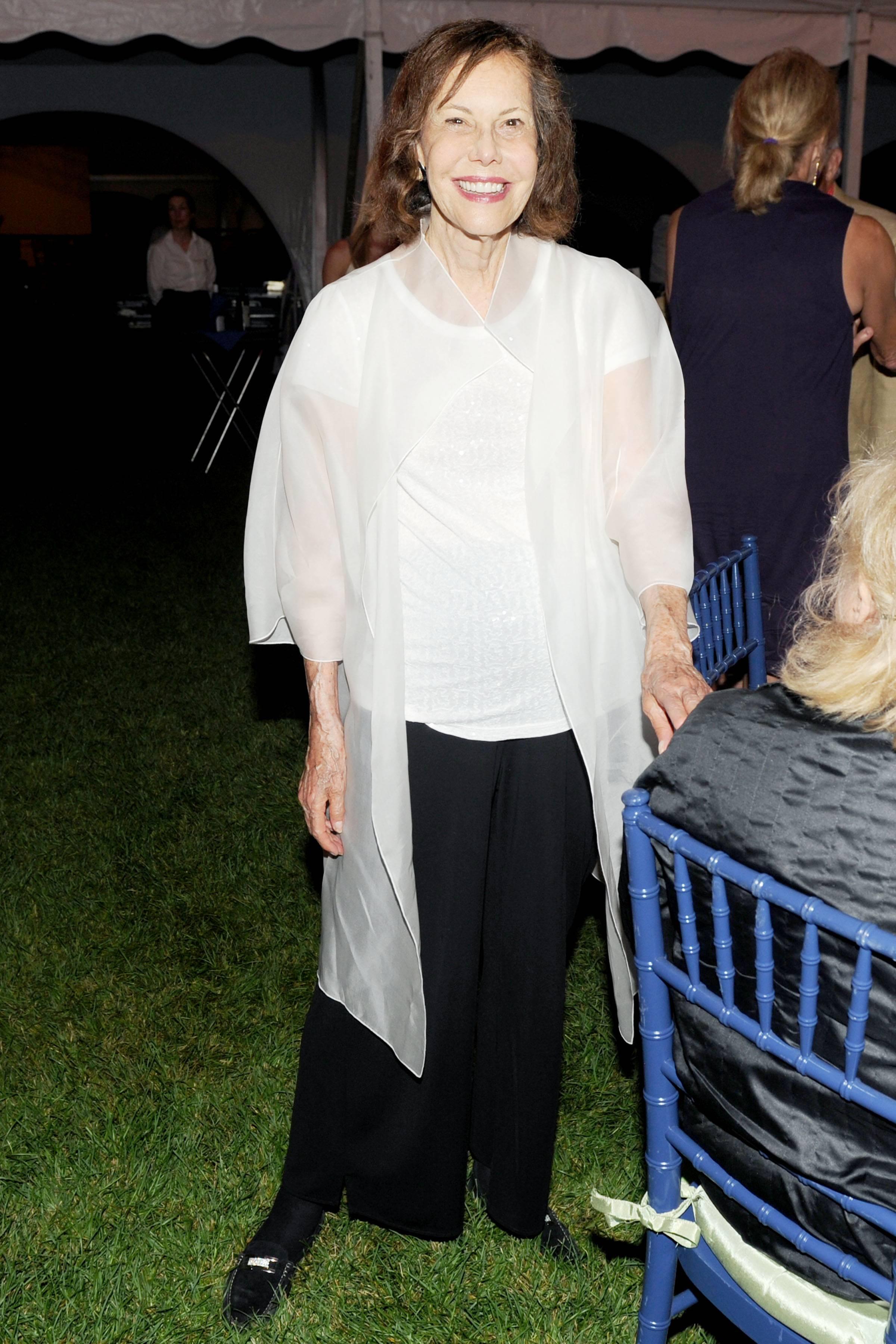 Ferrall_Barbara Goldsmith in the dinner tent