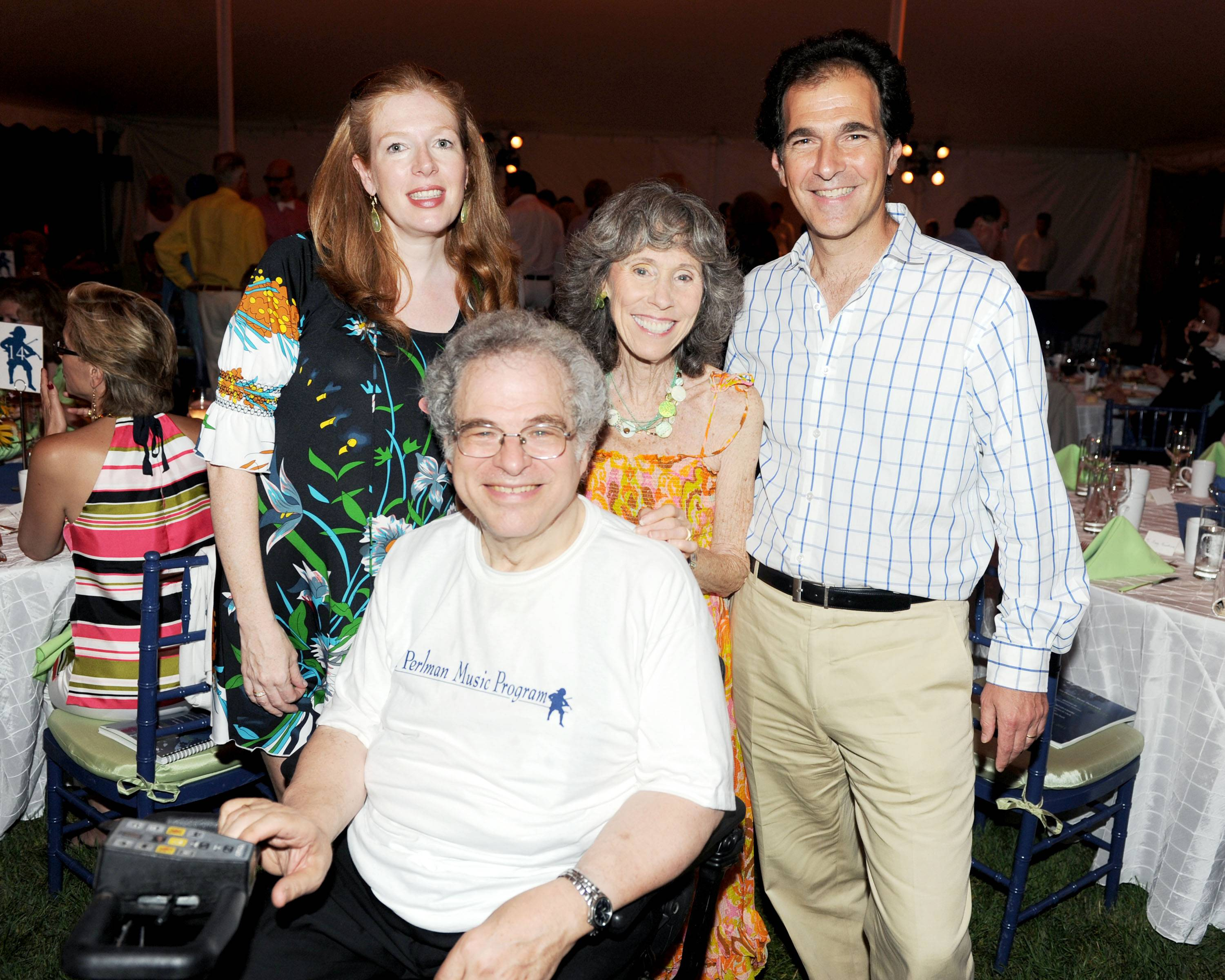 Ferrall_Hosts Dorian and Gary Fuhrman with Toby and Itzhak Perlman