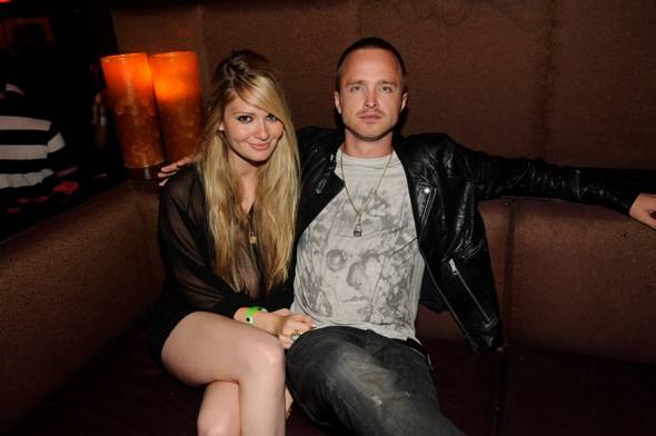 Lauren Parsekian and Aaron Paul at TAO
