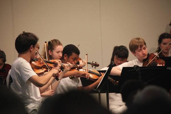 Watt_Students performing in The Perlman Music Program Orchestra