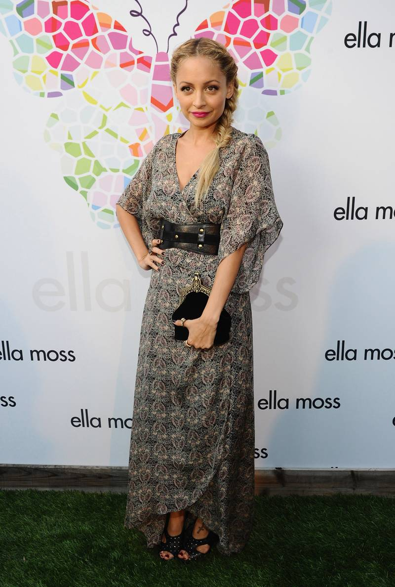Television personality Nicole Richie arrives at the Ella Moss 10