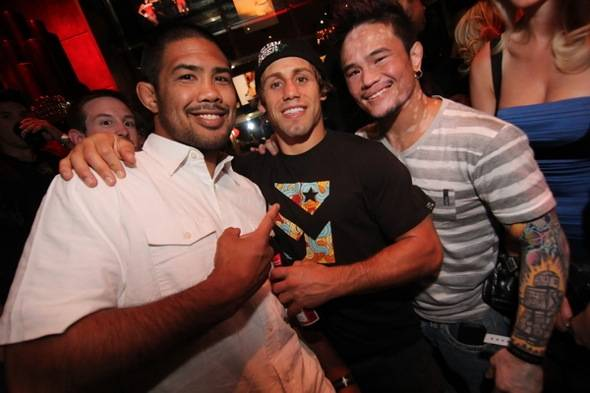 left to right - Fighters Munoz, Faber and Jorgensen photo by Joe Fury