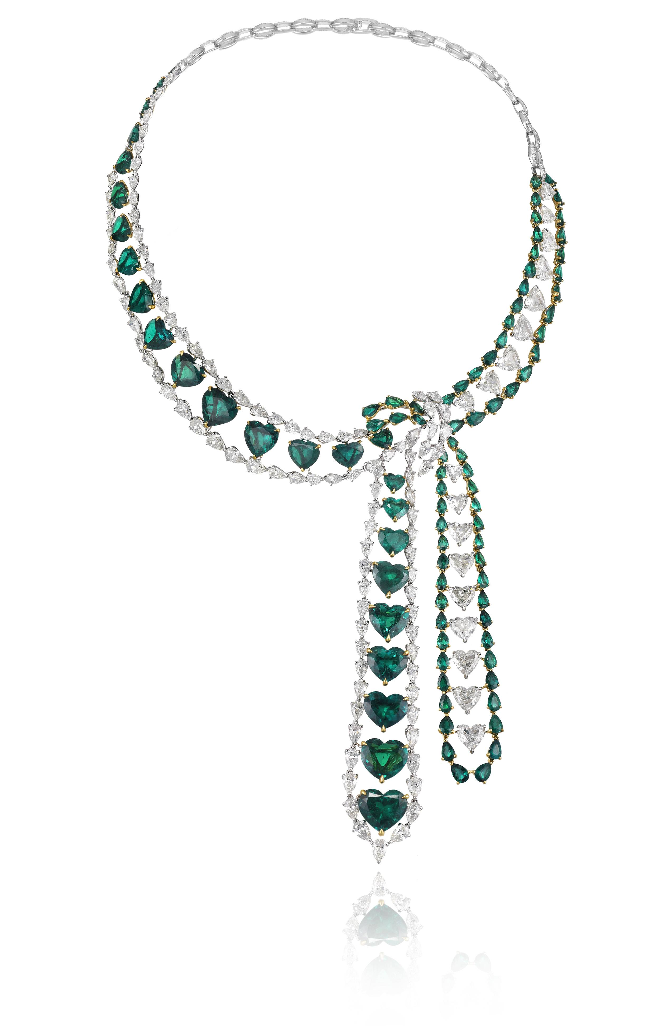 937889-9001 Hearth Emerald Necklace Red Carpet Collection