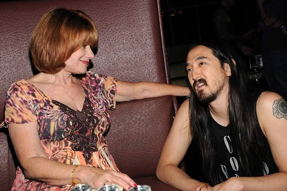 Andrea Gross, Steve Aoki - credit Scott Harrison