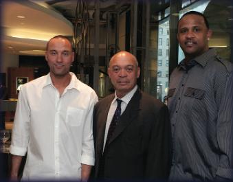 Derek Jeter, Reggie Jackson and CC Sabathia