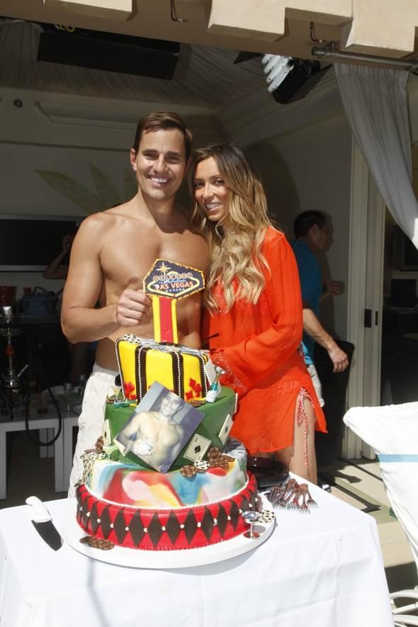 GIULIANA AND BILL WITH BIRTHDAY CAKE
