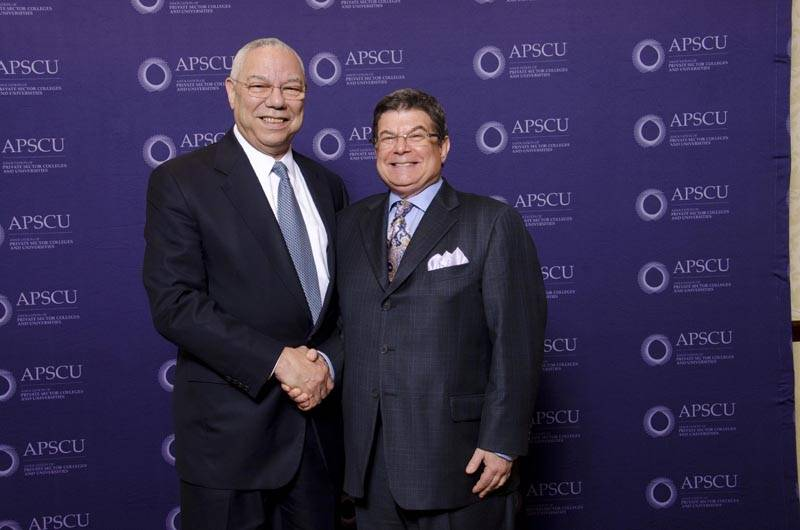 General Colin Powell and Arthur  Benjamin_APSCU Convention 2011