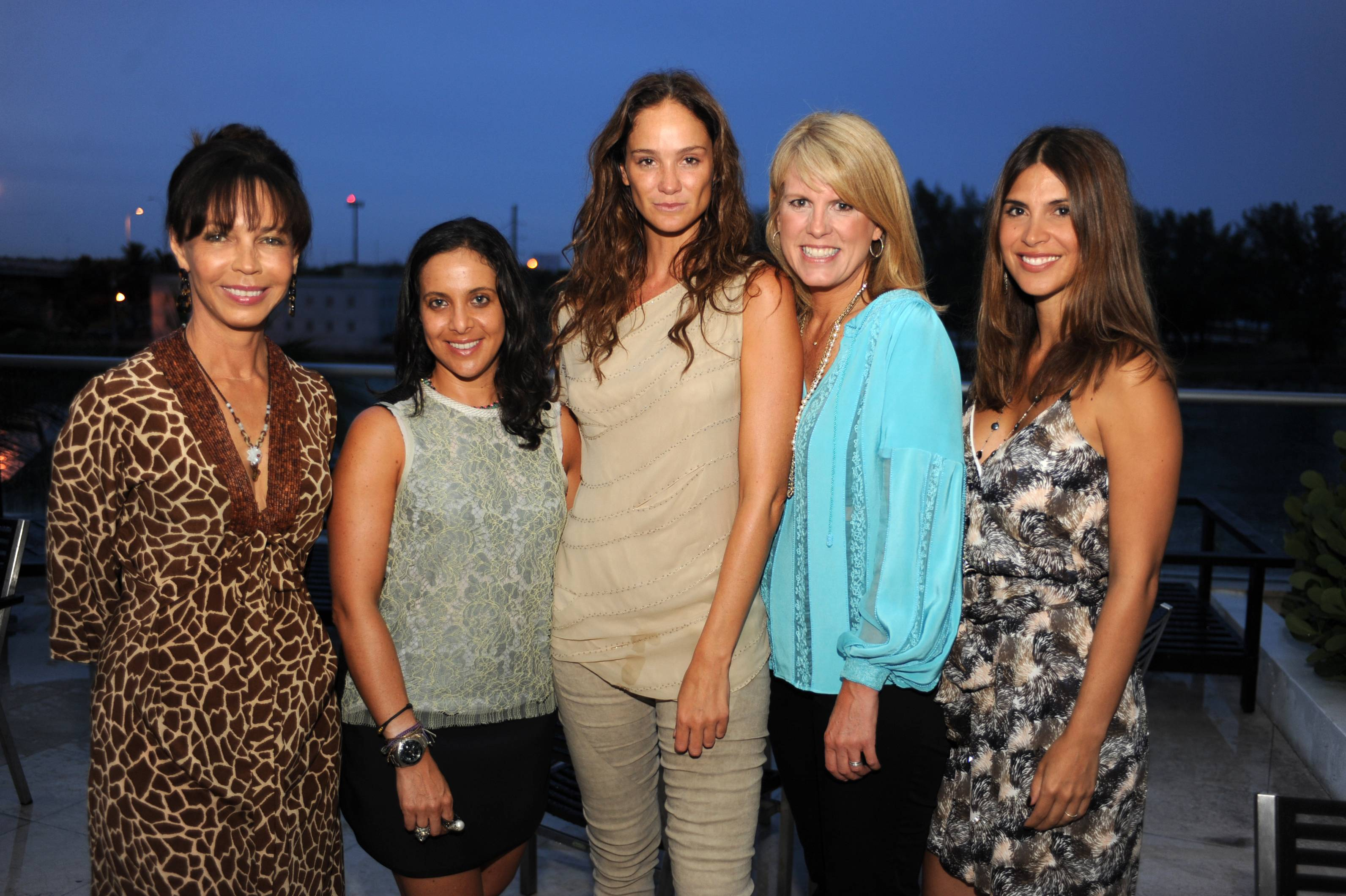 Lady Genie Nuttall, Fernanda Domit, Ines Rivero, Kate Betts, Alejandra Torres