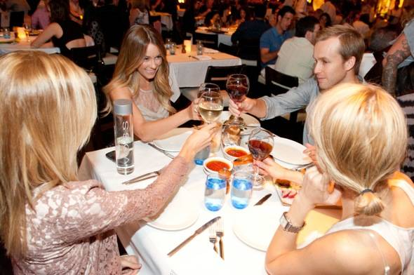 Lauren Conrad toasts friends at LAVO