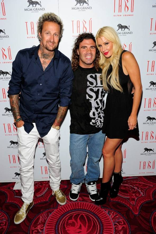 Luke Burrett, Clay Guida and Charis Burrett on red carpet at Tabu Ultra Lounge, Las Vegas 8.22.11