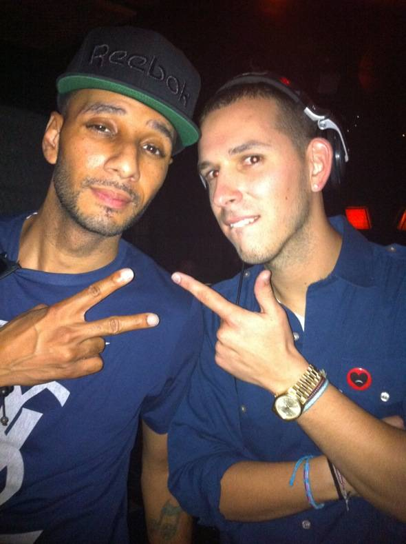 Swizz Beatz and Eric DLux at LAVO