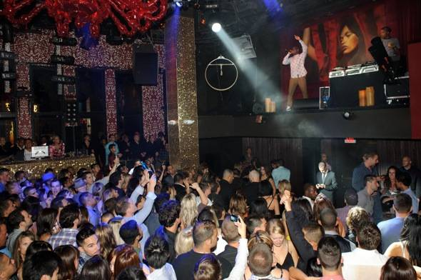British hiphop star, Tinie Tempah, performs at TAO Nightclub