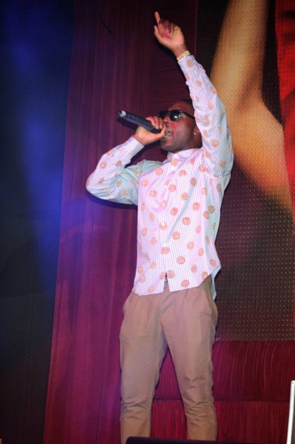 British hiphop star, Tinie Tempah, performs at TAO Nightclub