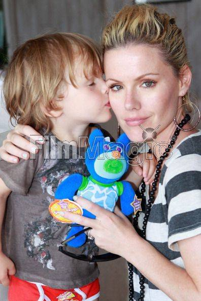 Kathleen Robertson and son William