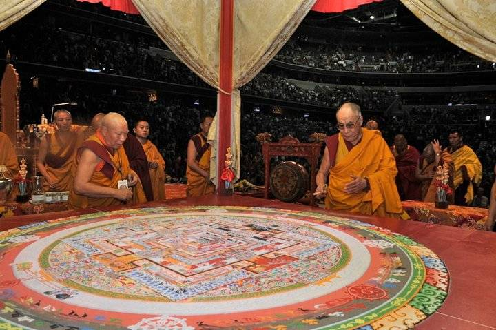 dalai lama and kalachakra mandala washington d-1.c.