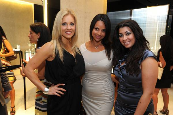 06 Shannon Ford, Cristina Lopez, and Jennifer Diliz at De Beers Jewellery launch
