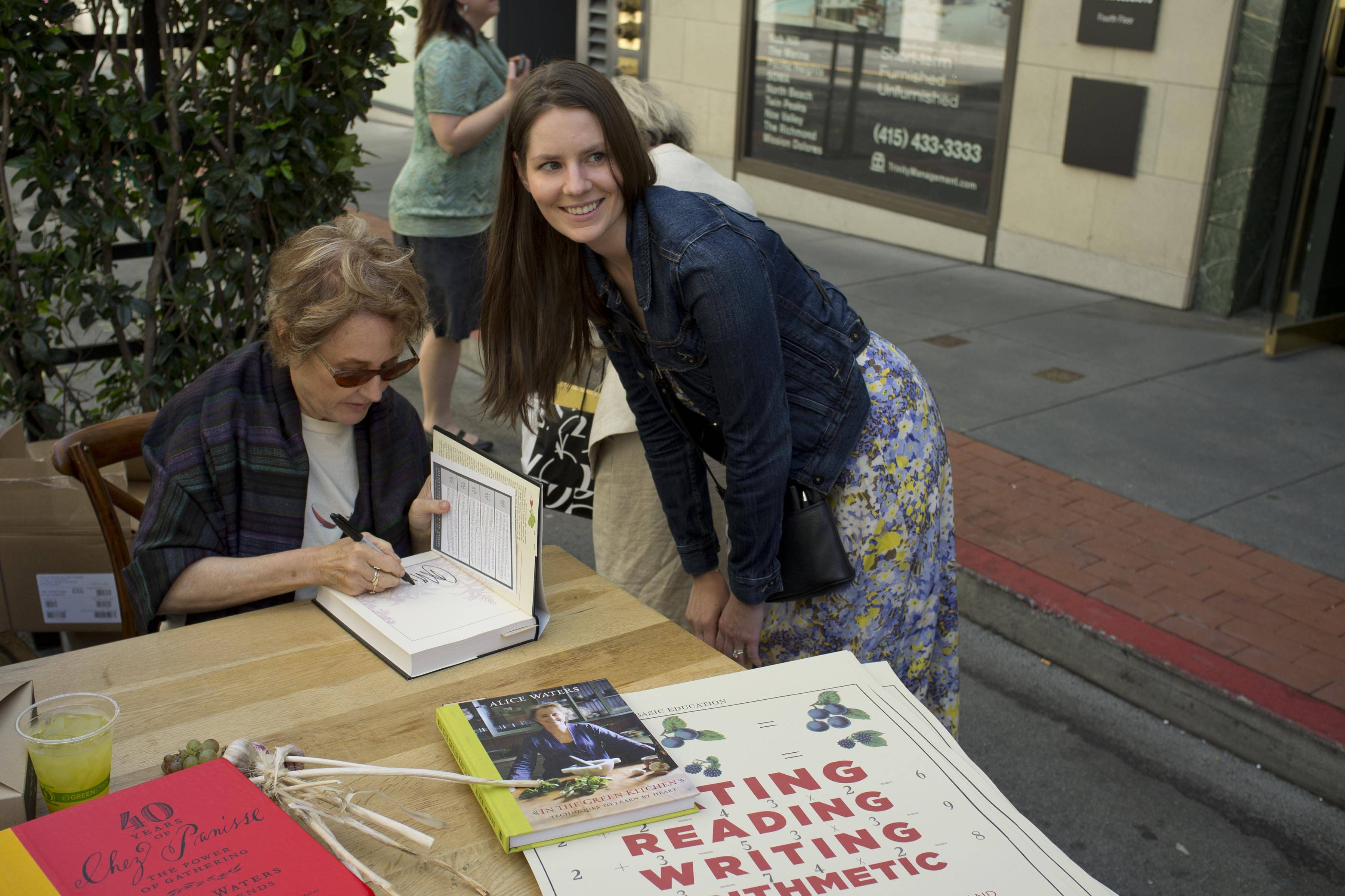 Alice Waters and Katie Hintz