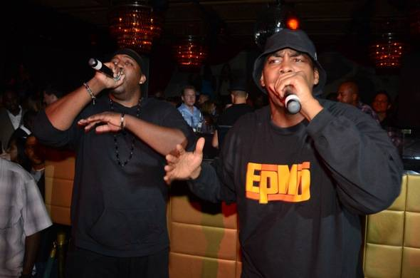 Erick Sermon and Parrish Smith, known as hip hop group EPMD, per