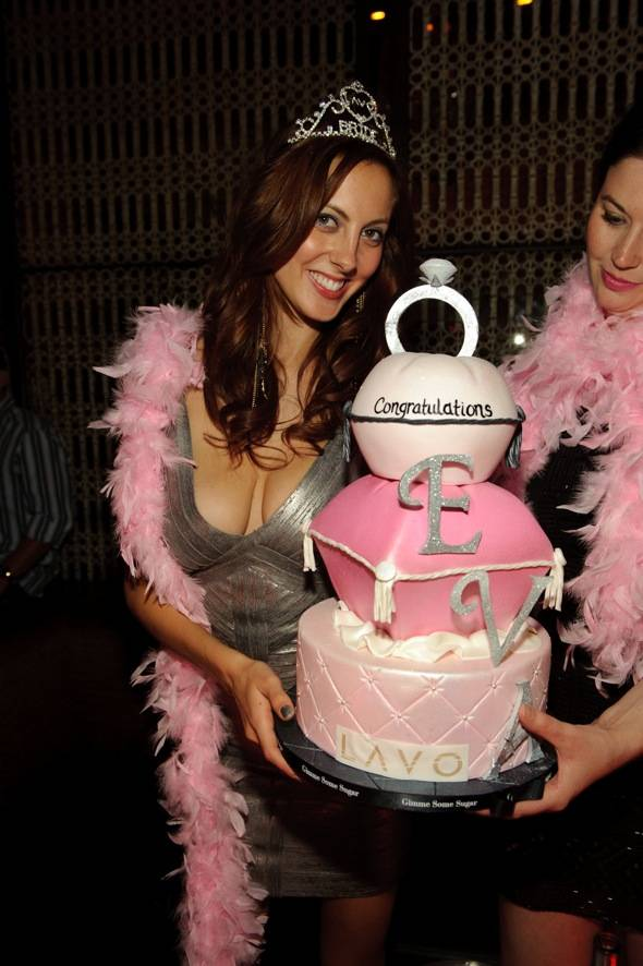 Actress, Eva Amurri, celebrates at LAVO