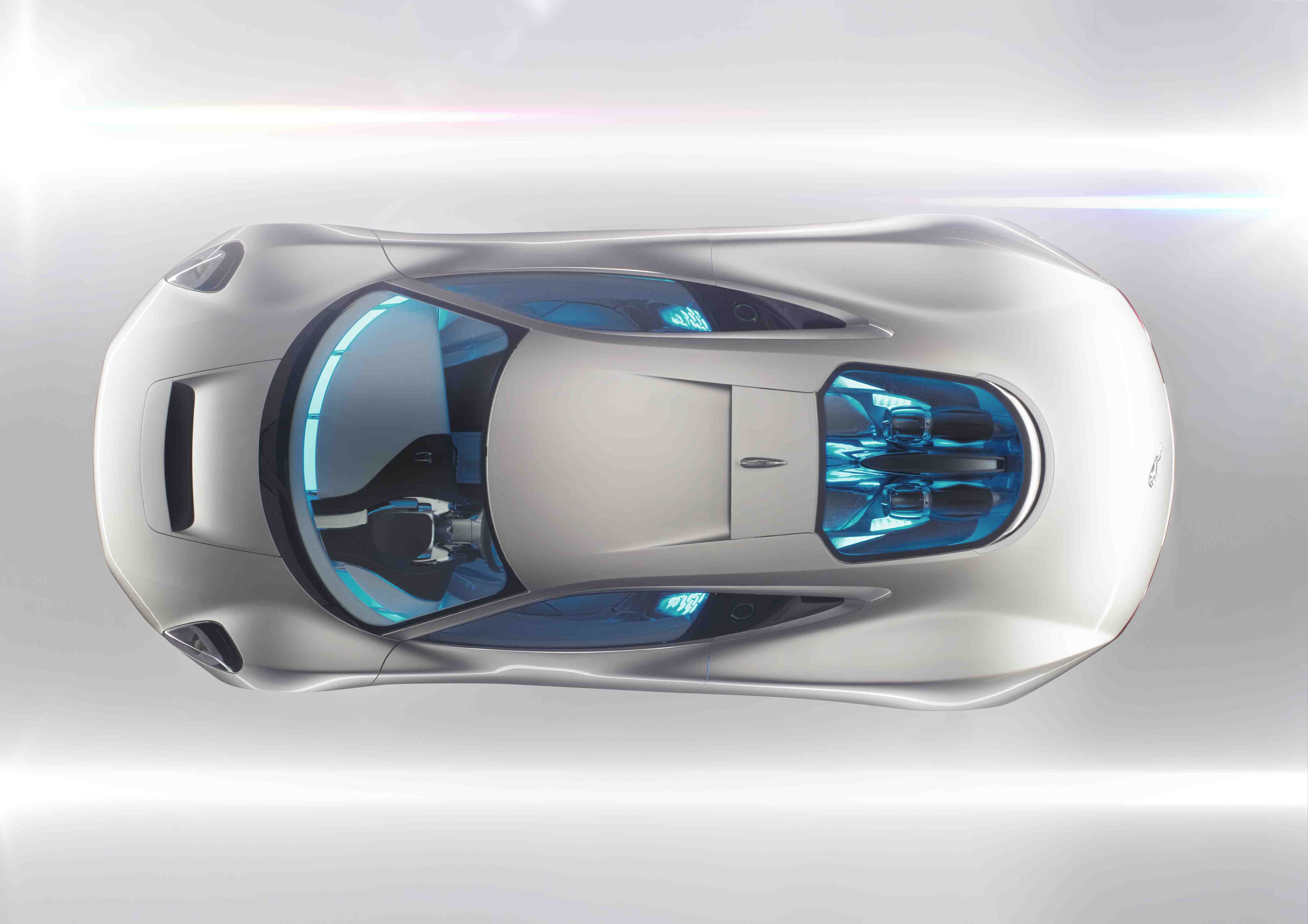 Jaguar C-X75 Concept Studio Shot overhead