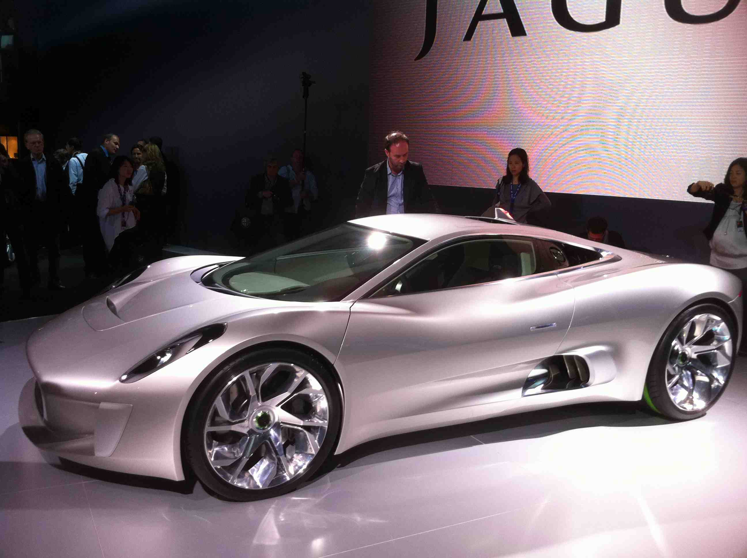 Jaguar C-X75 Concept at the Paris Auto Show
