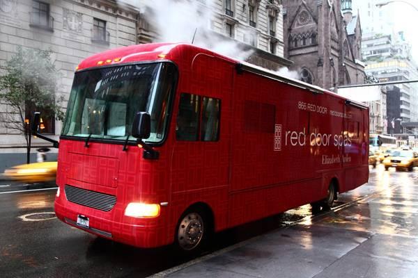 NYFW Red Door Spas Beauty Bus