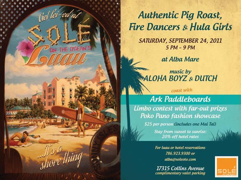 Solé on the Ocean says aloha to summer Hawaiian-style with