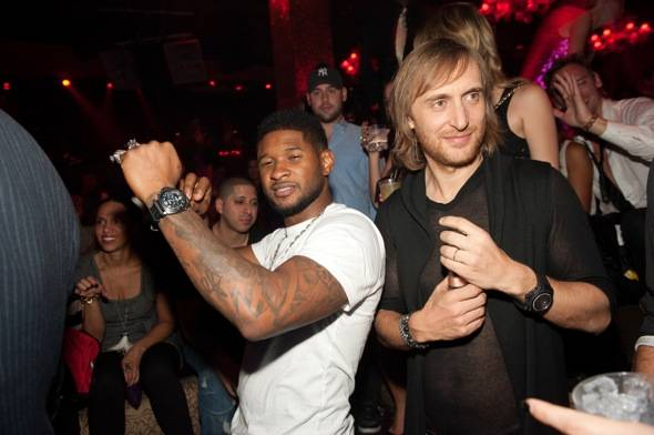 Usher and David Guetta party at TAO