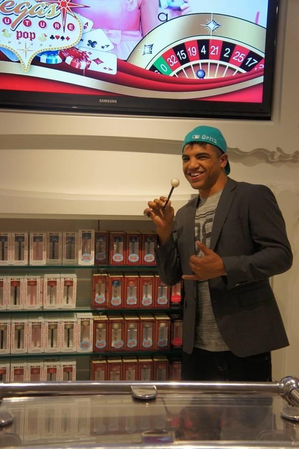 Victor Ortiz at Sugar Factory in Las Vegas