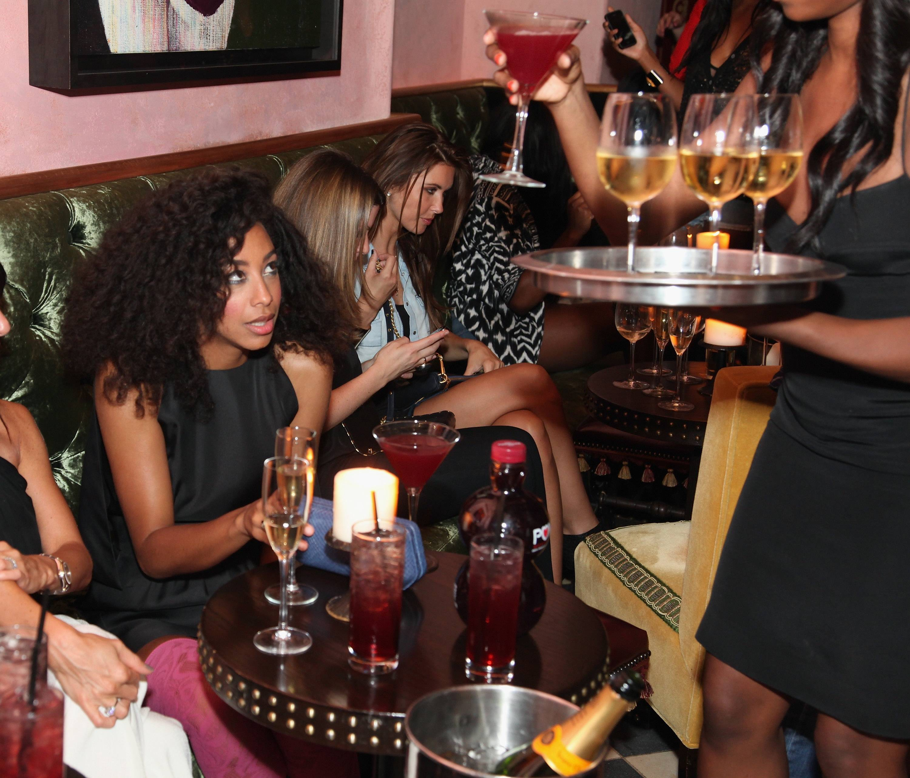 pomCorinne Bailey Rae & Audrina Patridge at the Rebecca Minkoff After Party Hosted by POM Wonderful at the Rose Bar, Gramercy Park Hotel
