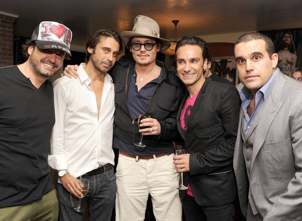DOMINGO ZAPATA, JOHNNY DEPP, JORDI MOLLA, ANTONIO DEL PRETE, AND SETH SEMILOF