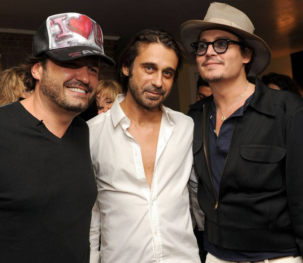 DOMINGO ZAPATA, JORDI MOLLA, AND JOHNNY DEPP