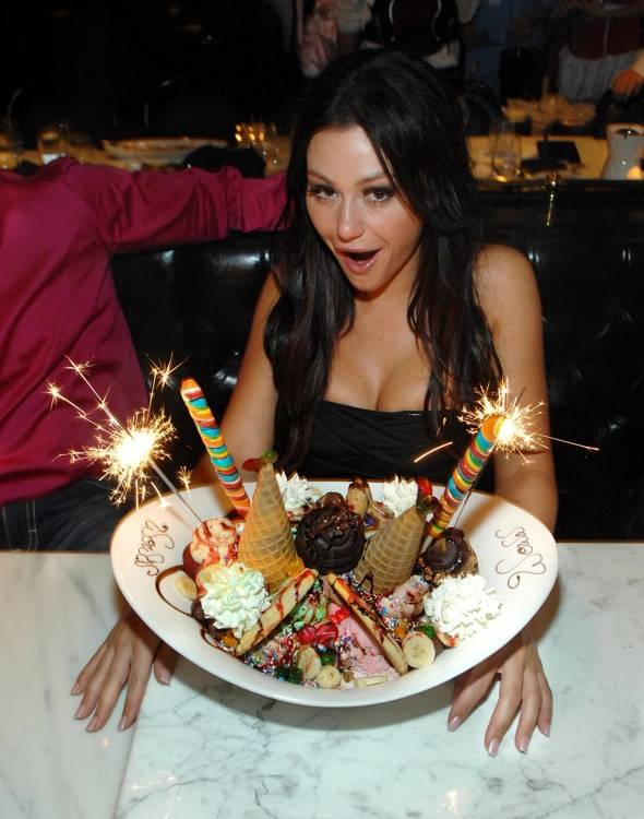 JWOWW with ice cream sundae