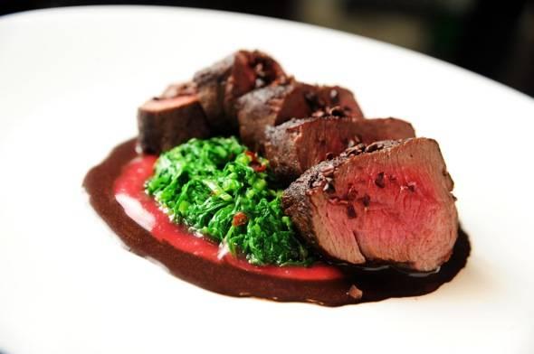 Jean George Steakhouse – Peppered Venison Loin – seasonal October
