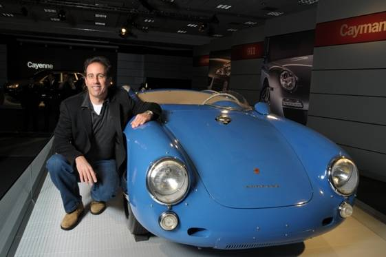 Jerry Seinfeld with a Porsche from his collection_courtesy of Porsche Cars North America, Inc