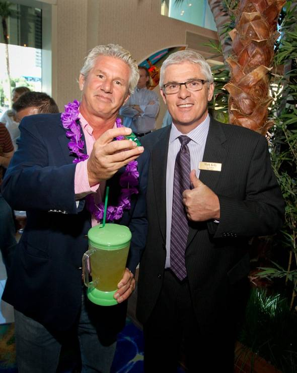 John Cohlan of Margaritaville Holdings with Mark Kelly, VP of Table Games at Flamingo