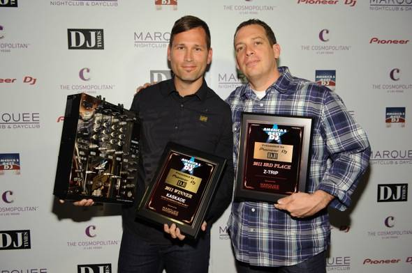 Kaskade receives an award for being voted America's #1 DJ at Mar