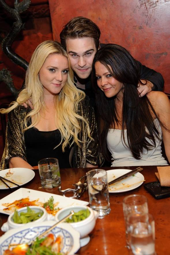 Katie Welch, Grey Damon, and Allison Melick at TAO