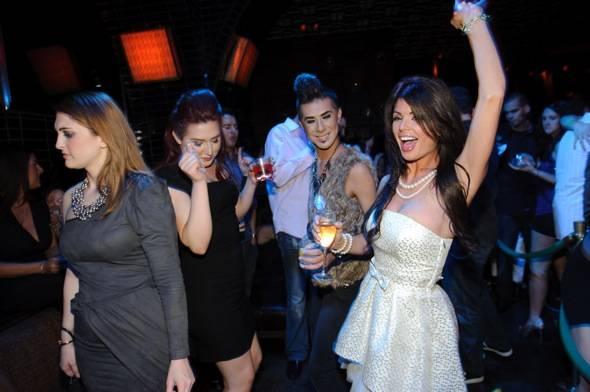 Laura Croft celebrates at LAVO