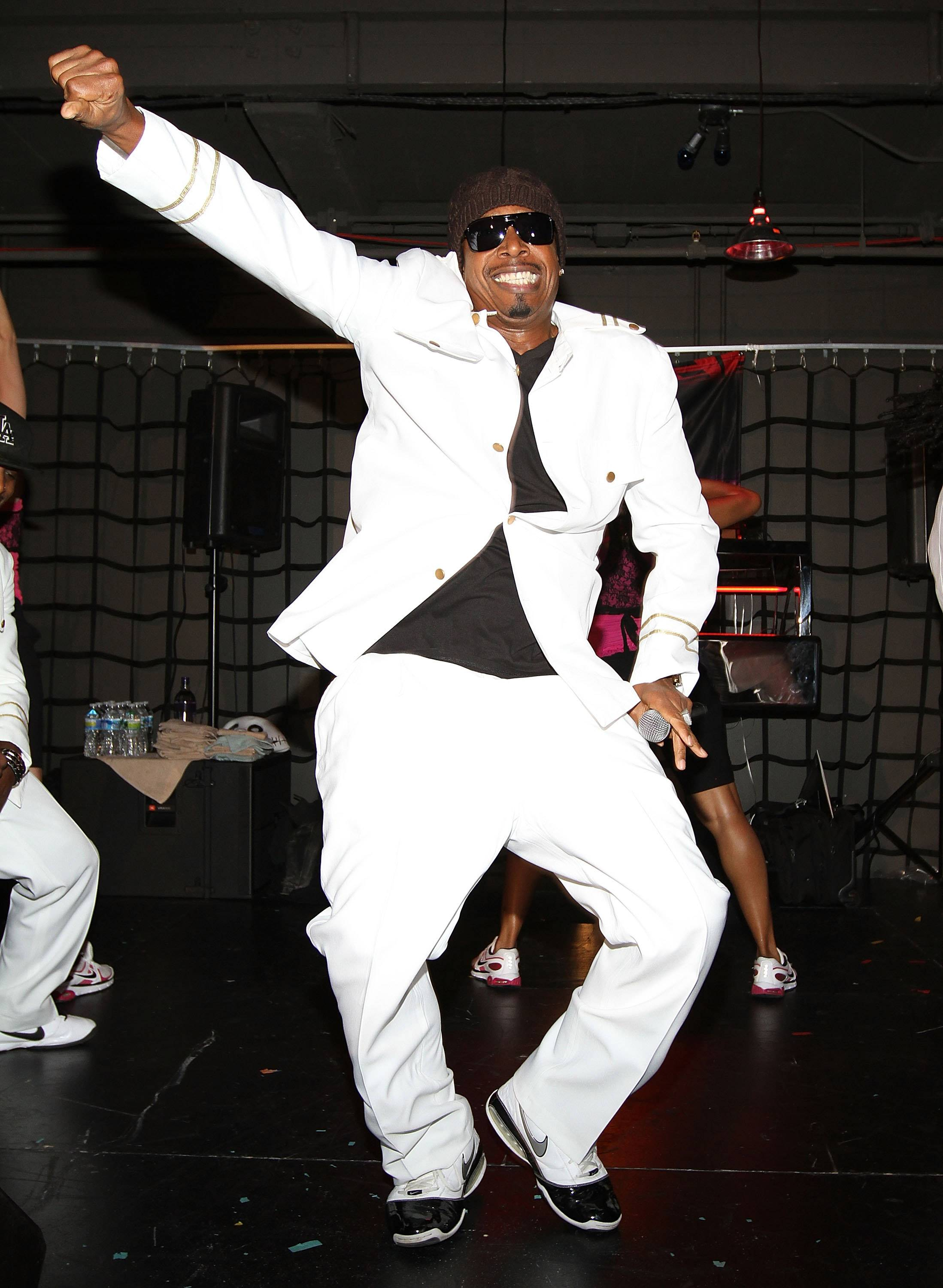MC Hammer performs at Yoni & Josh's Halloween Celebration presented by SVEDKA VODKA at Good Units on October 28, 2011 in New York City.