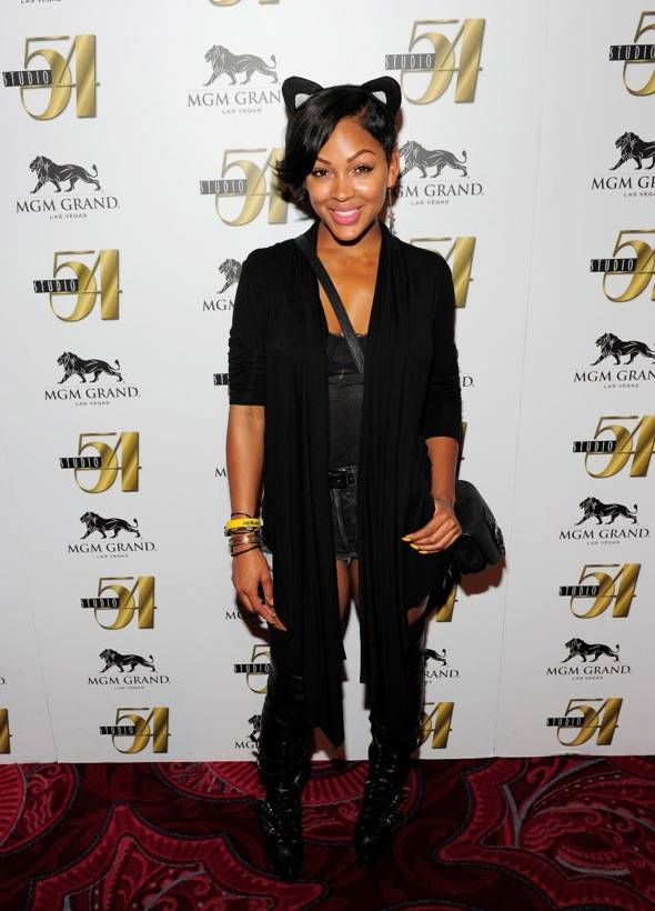Meagan Good on red carpet at Studio 54, Las Vegas 10.01.11