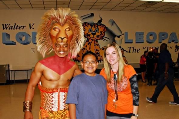 Niles Rivers as Simba, 5th grader Daniel Hernandez & teacher Danielle Rayos, 10.25.11